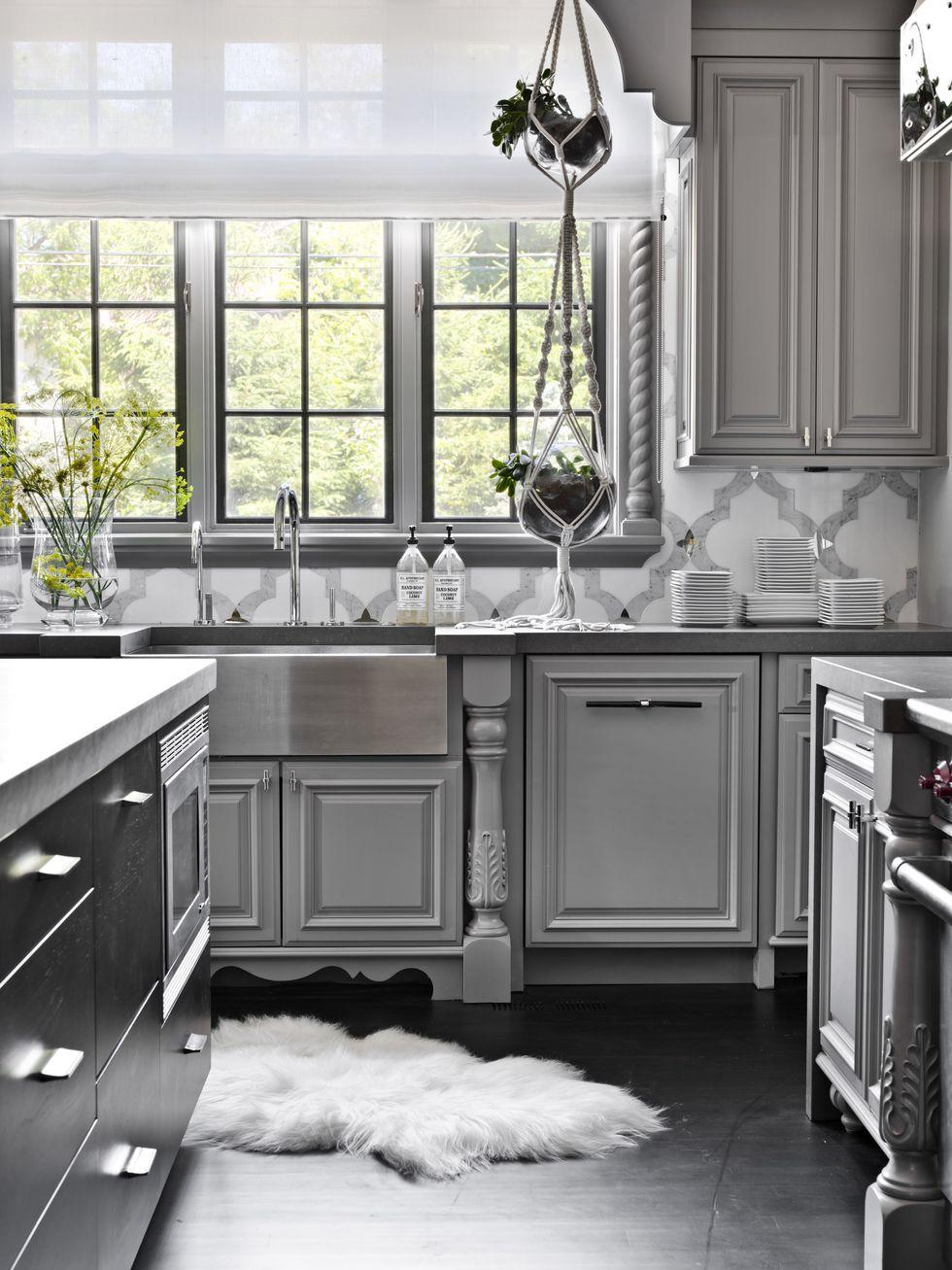 Executive Kitchen Cabinets.14 Stunning Grey Kitchen Cabinets To Love
