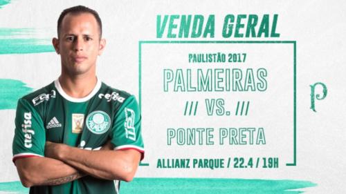 Palmeiras x Ponte Preta: 33 mil ingressos já foram vendidos