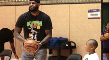 LeBron James, Dion Waiters' son engage in a little trash talk