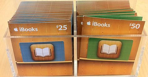 iBooks gift cards appear in Apple Stores and Target stores