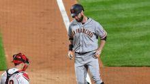 Baseball chaser Zack Hample falls pursuing Brandon Belt homer