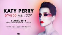 Katy Perry to perform in Singapore on 8 April next year