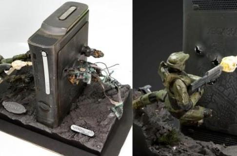 Master Chief's bullet-riddled Xbox 360 case mod auctioned off for charity