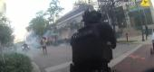 Police in Fort Lauderdale, Fla., shoot rubber bullets. (NBC News)