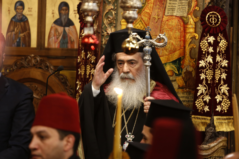 Greek Orthodox Christmas.Palestinians Protest Patriarch Ahead Of Orthodox Christmas