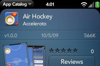 Paid apps now live in webOS App Catalog, Air Hockey comes first