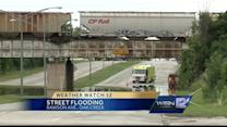 Heavy rains lead to street flooding