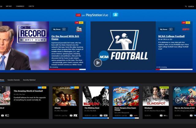 PlayStation Vue adds select live Fox primetime shows