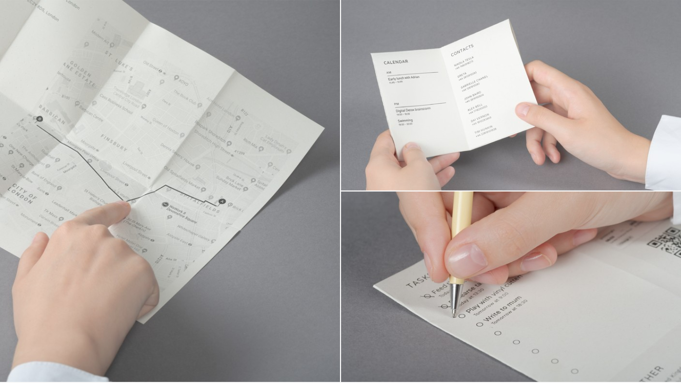 Could you replace your smartphone with a 'Paper Phone'?