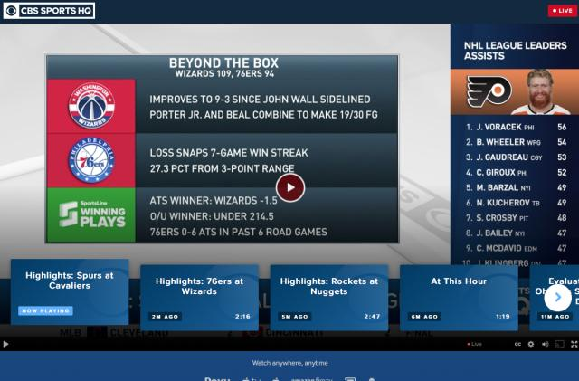 CBS launches 24/7 sports streaming network for news and analysis