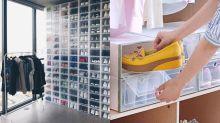 波鞋控的夢幻鞋櫃牆!超實用的一目了然波鞋收納箱推介