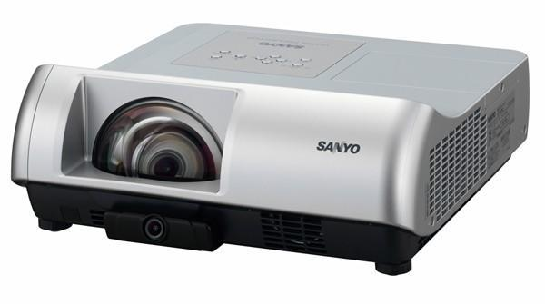Sanyo PLC-WL2503 ultra-short-throw projector does built-in interactivity a tad cheaper