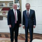 President Trump meets with Russia's top diplomat
