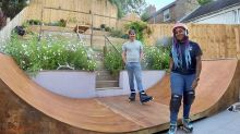 Couple transform ordinary garden into skaters' paradise with 18ft ramp