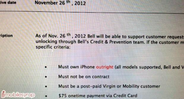 Bell, Virgin Mobile Canada reportedly start unlocking iPhones, at a steep cost (update: Telus does too)