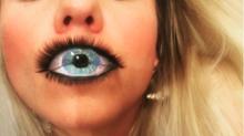 Auge oder Lippe? Optische Täuschung wird zum neuen Beauty-Trend