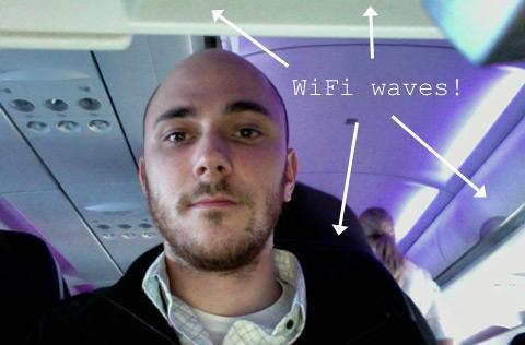 On Virgin America's inaugural GoGo WiFi flight: this post published from 35,000 feet