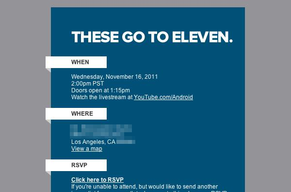 Google announces Android 'special event' for November 16th in Los Angeles