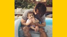 Cute Alert! Shahid Kapoor Takes Misha for a Dip in the Pool