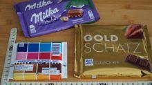 Schokoladenquadrat von Ritter Sport bleibt geschützt