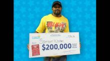 All 3 of his NC lottery tickets were winners, but the last one made his mouth drop