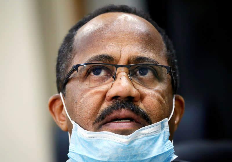 FILE PHOTO: Sudan's Minister of Health Akram Ali Altom speaks during a Reuters interview amid concerns about the spread of coronavirus disease (COVID-19), in Khartoum