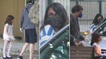 Maria Ribeiro é flagrada com Davi Moraes e a filha do músico depois de reatarem namoro