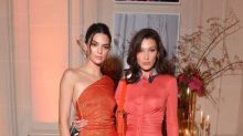 Kendall Jenner and Bella Hadid dressed like twins at Paris Fashion Week