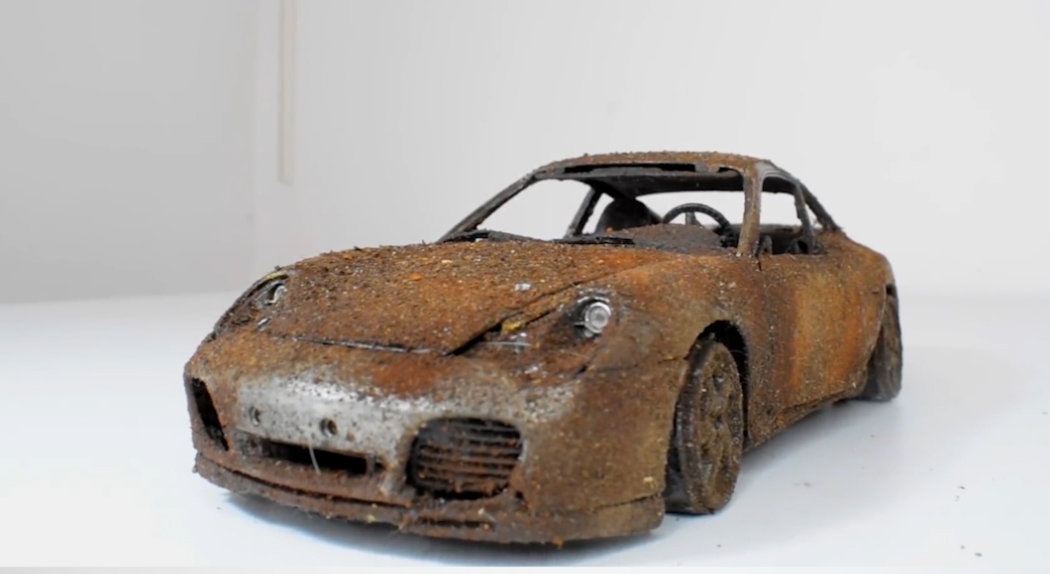 YouTuber records ASMR-worthy restoration of rusty Porsche toy car [Video]