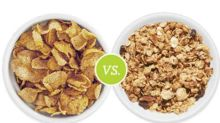 Which is Worse: Cereals with Big or Small Flakes?