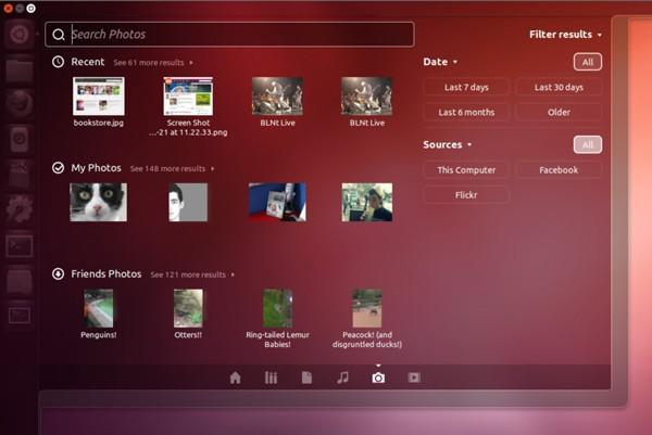 Ubuntu 12.10 adds Photo Lens for searching photos stored locally and online