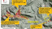 Highest Gold Grades to Date Reported from New Trend at Shot Rock, Nova Scotia