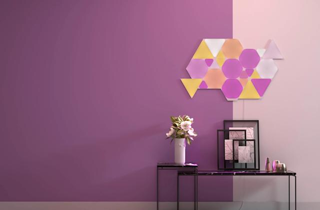 Nanoleaf adds Triangles to its colorful Shapes light panels
