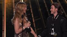 Celine Dion's Oldest Son Offers a Shoulder to Cry On at BBMAs