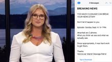 Journalist slams viewer saying she showed 'too much cleavage'