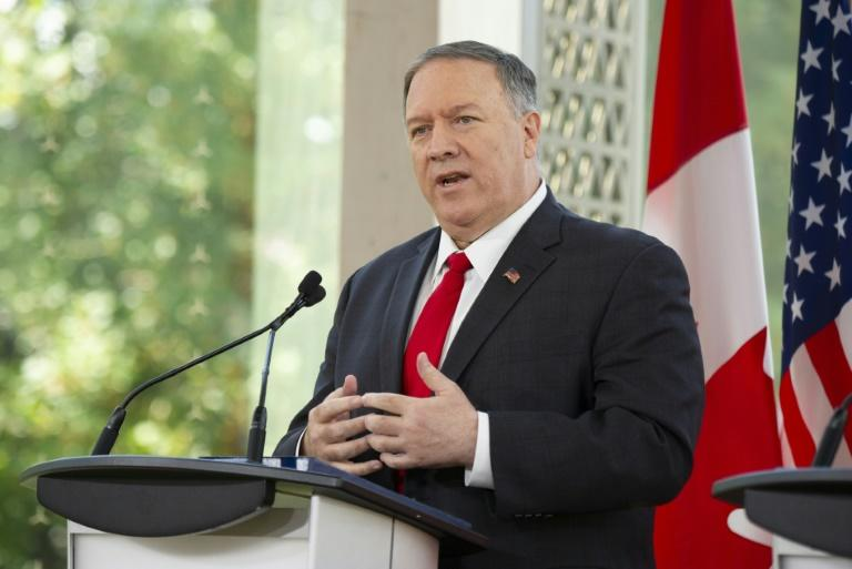 "North Korea said it was ""sceptical"" whether it can keep negotiating with US Secretary of State Mike Pompeo, pictured on August 22, 2019, in Ottawa, Canada"