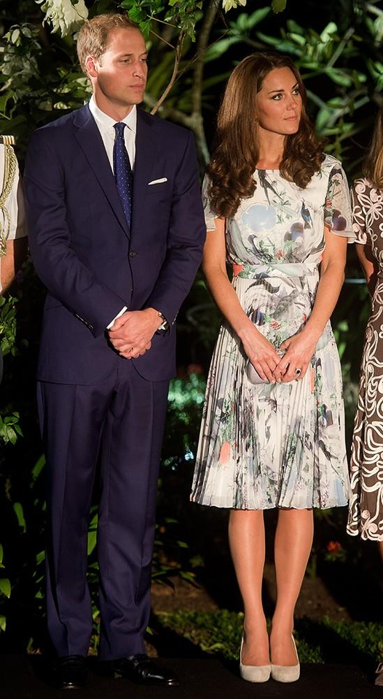 Kate looked gorgeous in a floral Erdem dress during the British Gala reception.