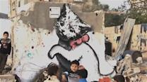 Banksy shares video of new work in Gaza