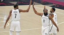 James Harden defers in first game with Kyrie Irving as Cavs top new-look Nets in 2 OTs