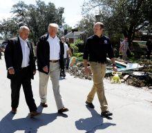 Trump surveys Florence storm damage in North Carolina