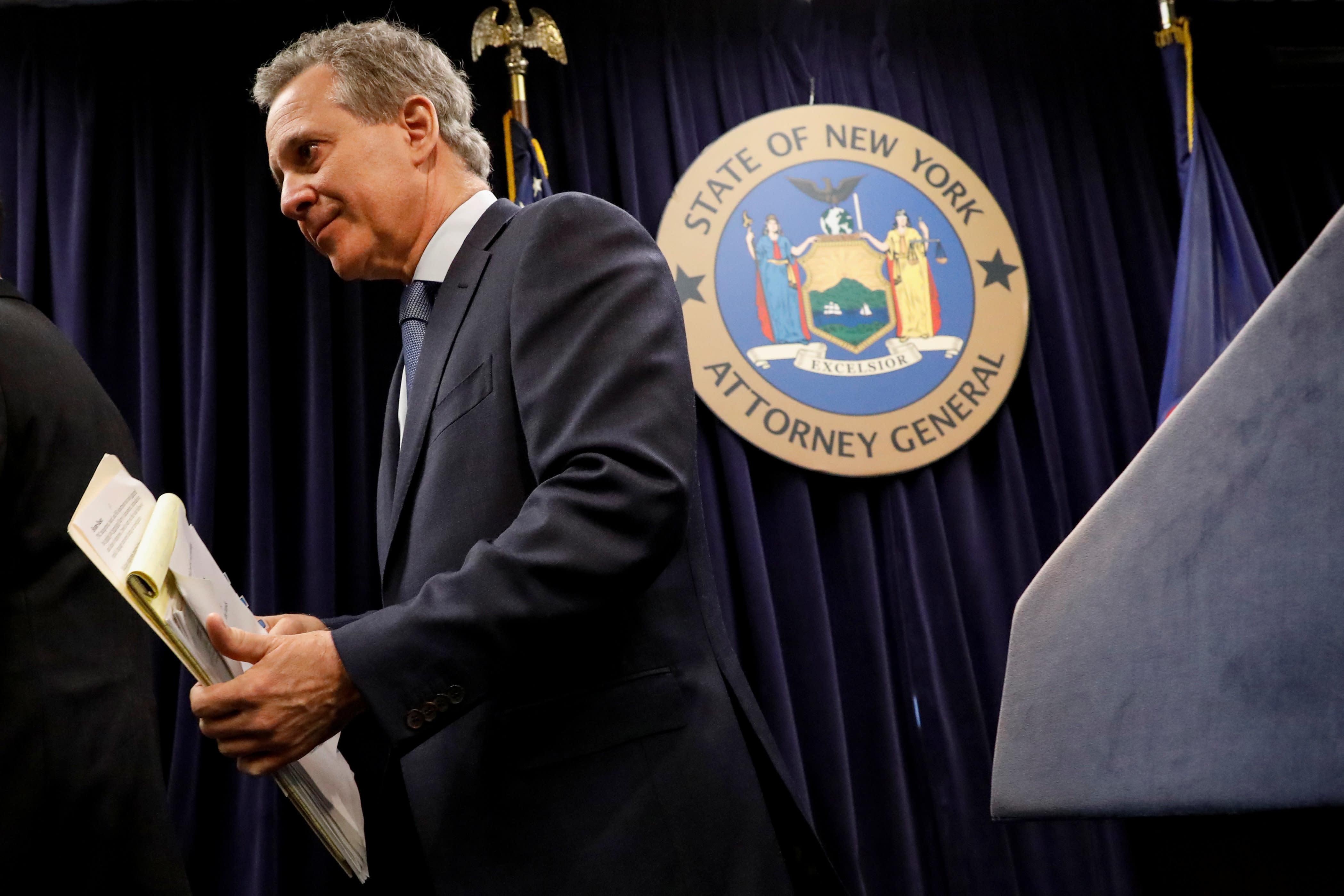 New York Attorney General Eric Schneiderman (D) announced his resignation on