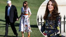 Melania Trump takes style cues from Kate Middleton