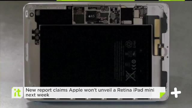 New Report Claims Apple Won't Unveil A Retina IPad Mini Next Week