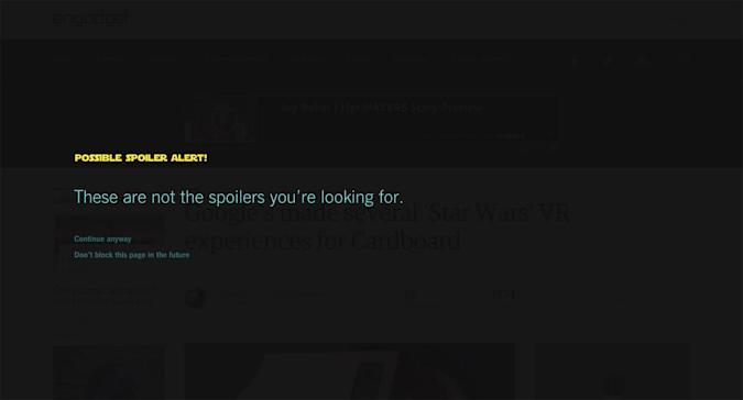 Block all 'Star Wars' spoilers with this Chrome extension