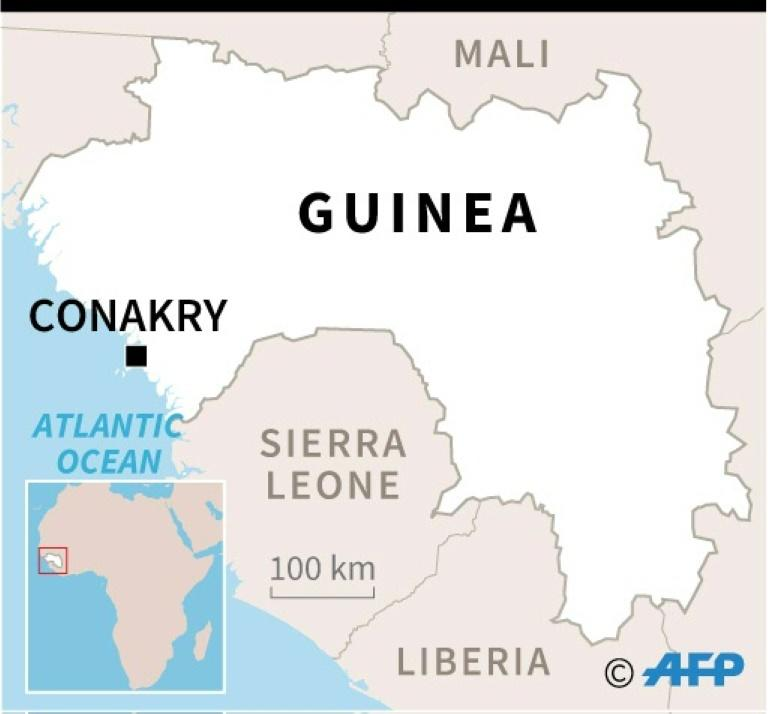 Map of Guinea (AFP Photo/Gillian HANDYSIDE)
