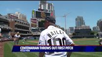 Centenarian Throws Out First Pitch
