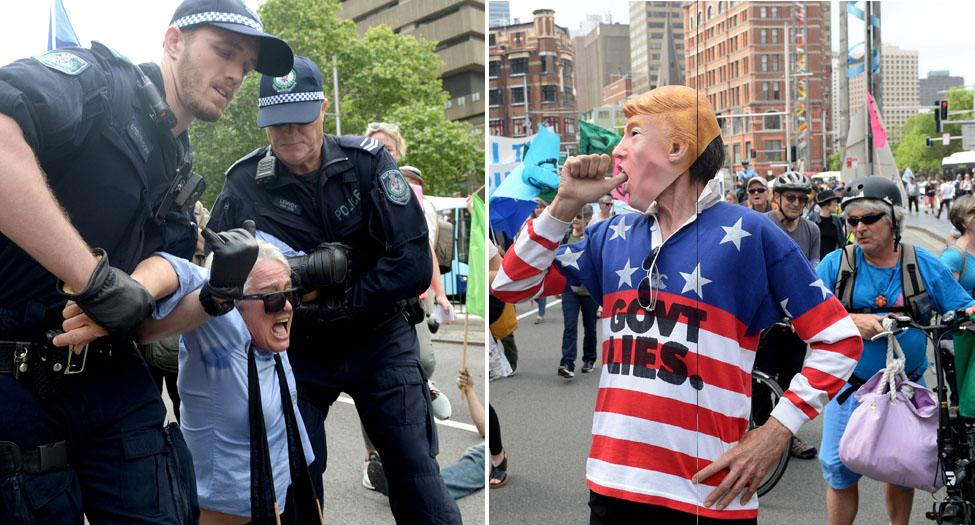 'Catastrophically failed us': Mass arrests at Sydney climate change rally