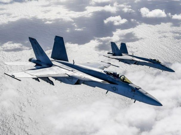 US Navy F/A-18s would 'destroy' China's J-15 carrier fighters in air-to-air combat today, but the future could be a different story