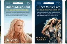 Limited edition iTunes gift cards at Target