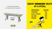 IKEA, Scoot put out parody ads based on stolen bus stop bench at Braddell Road